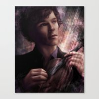 sherlock Canvas Prints featuring Sherlock by Jasric Art