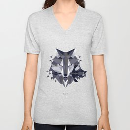 Sif the Great Grey Wolf (without bg) Unisex V-Neck