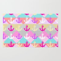 anchors Area & Throw Rugs featuring Anchors by Ornaart