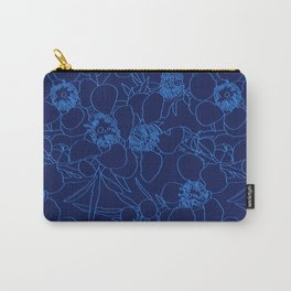 Australian Waxflower Line Floral in Blue Carry-All Pouch