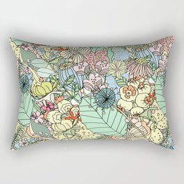 Muted In Bloom Rectangular Pillow