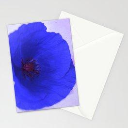 Lonesome Poppy Flower (Blue version) Stationery Cards