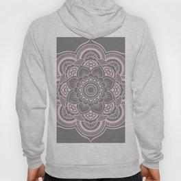 Mandala Flower Gray & Ballet Pink Hoody