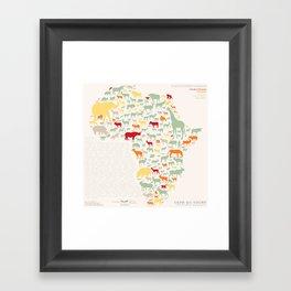Endangered Safari - with animal names Framed Art Print