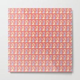 Digit Number Two Pattern Metal Print