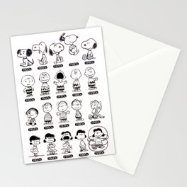 Peanuts through the ages Stationery Cards