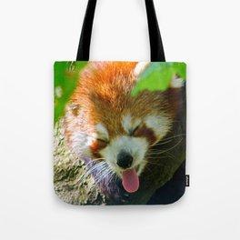 Yawning Red Panda Tote Bag