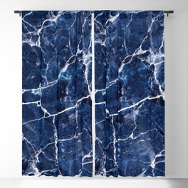 Bleu marbre Blackout Curtain