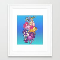mlp Framed Art Prints featuring MLP... esque by Sempaiko