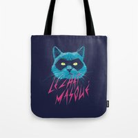 nightwing Tote Bags featuring Le Chat Masqué by victor calahan