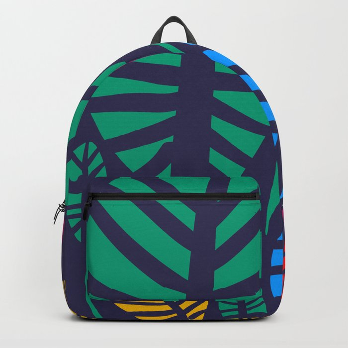 Jungle Night Pattern Floral Decoration Backpack