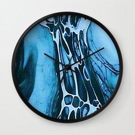 Tint Blot - Cracked Glass Blue Wall Clock