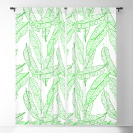 Banana Leaf (White Glow) - Grass Blackout Curtain