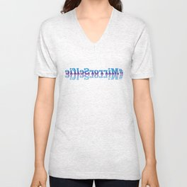 #MirrorSelfie in Blue and Purple Unisex V-Neck
