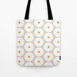Minimal Botanical Pattern - Daisies Tote Bag