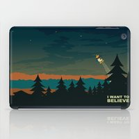 i want to believe iPad Cases featuring I want to believe by mangulica