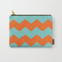 chevron - teal and orange Carry-All Pouch