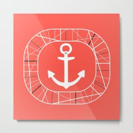 Tidy Seas- Coral Metal Print