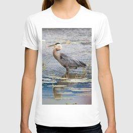 Heron wading T-shirt