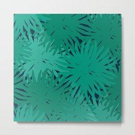 Deep Summer - Green Urchins Metal Print