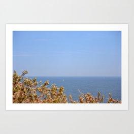 Sailing in the Cote d'Azur Art Print