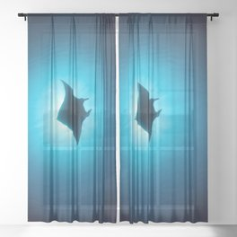 Manta silhouette Sheer Curtain