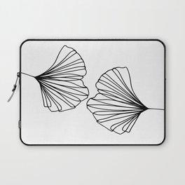 Ginkgo Leaves 01 Minimal Line Art Laptop Sleeve