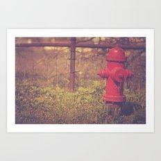 Red Hydrant Art Print