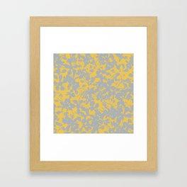 Sunshine Yellow - Broken but Flourishing Floral Pattern Framed Art Print