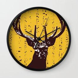 Deer in Birch Forest Wall Clock
