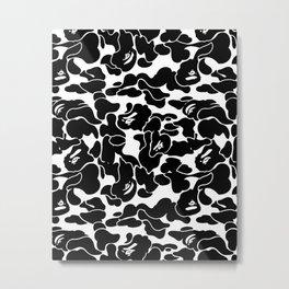 Bape Black x White Metal Print