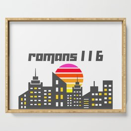 Romans 1:16 Serving Tray