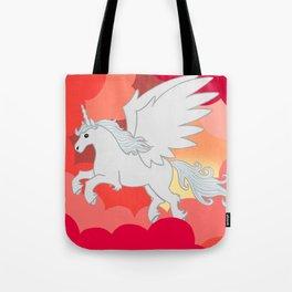 Alicorn at Sunset Tote Bag