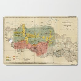 Vintage Geological Map of The Mount Everest Region (1921) Cutting Board
