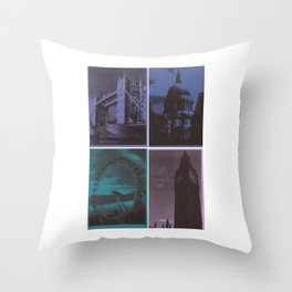 London monuments with white border #2 Throw Pillow