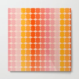Strawberry Dots Metal Print