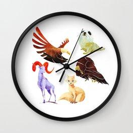 Arctic animals Wall Clock