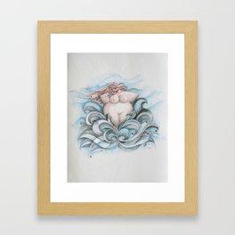 Mulher nua Framed Art Print