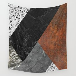 Marble, Granite, Rusted Iron Abstract Wall Tapestry