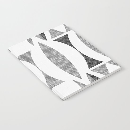 Seventies Black and White Notebook
