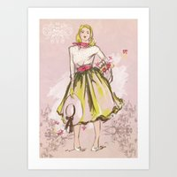 50s Art Prints featuring 50s by Galvanise The Dog