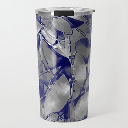 Grunge Art Silver Floral Abstract G169 Travel Mug
