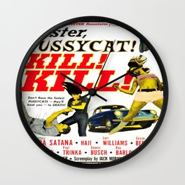 Faster Pussycat! Wall Clock