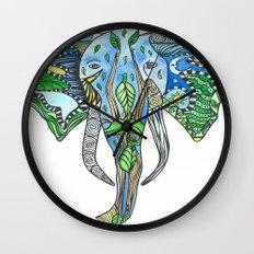 Tatoo Elephant Wall Clock