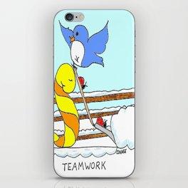 Teamwork iPhone Skin
