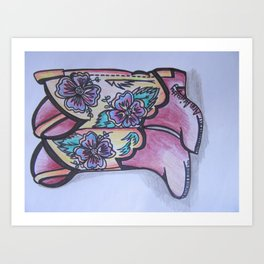 Boots are made for walking Art Print