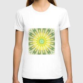 Bright Yellow green Mandala Design T-shirt