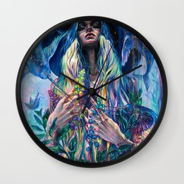 The Rustle of Narwhal's Wings Wall Clock