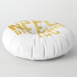 Good Girls Need Spankings Too BDSM gold Floor Pillow
