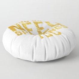 Good Girls Need Spankings Too BDSM gold Floor Pillow